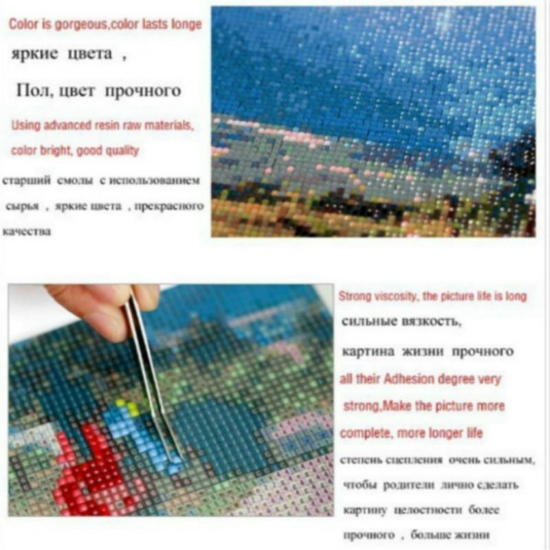 Diamond Embroidery Home Decor NEW 2021 Lover 5D DIY Full Drill Square Round Diamond Painting Kit Cross Stitch