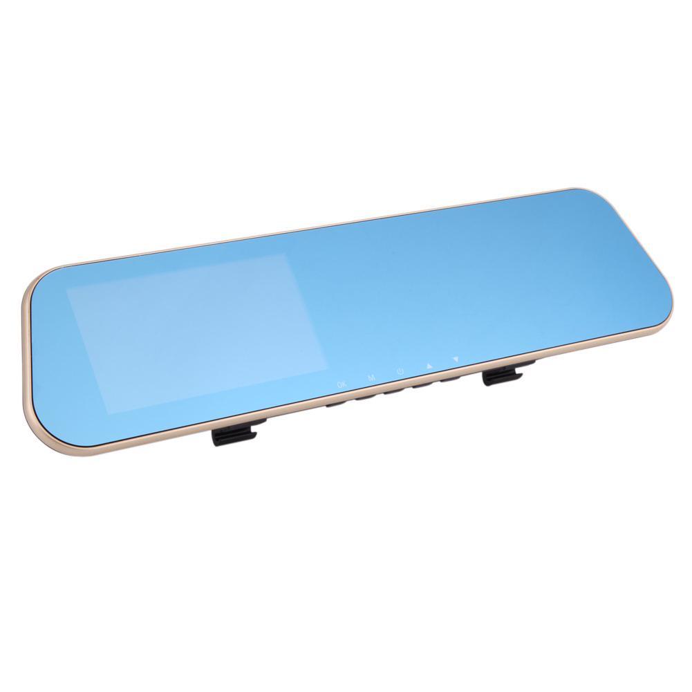 4,3-дюймовый 1080P с антибликовым покрытием двойной объектив зеркало заднего вида автомобиля тире Cam DVR запись – купить по низким ценам в интернет-магазине Joom