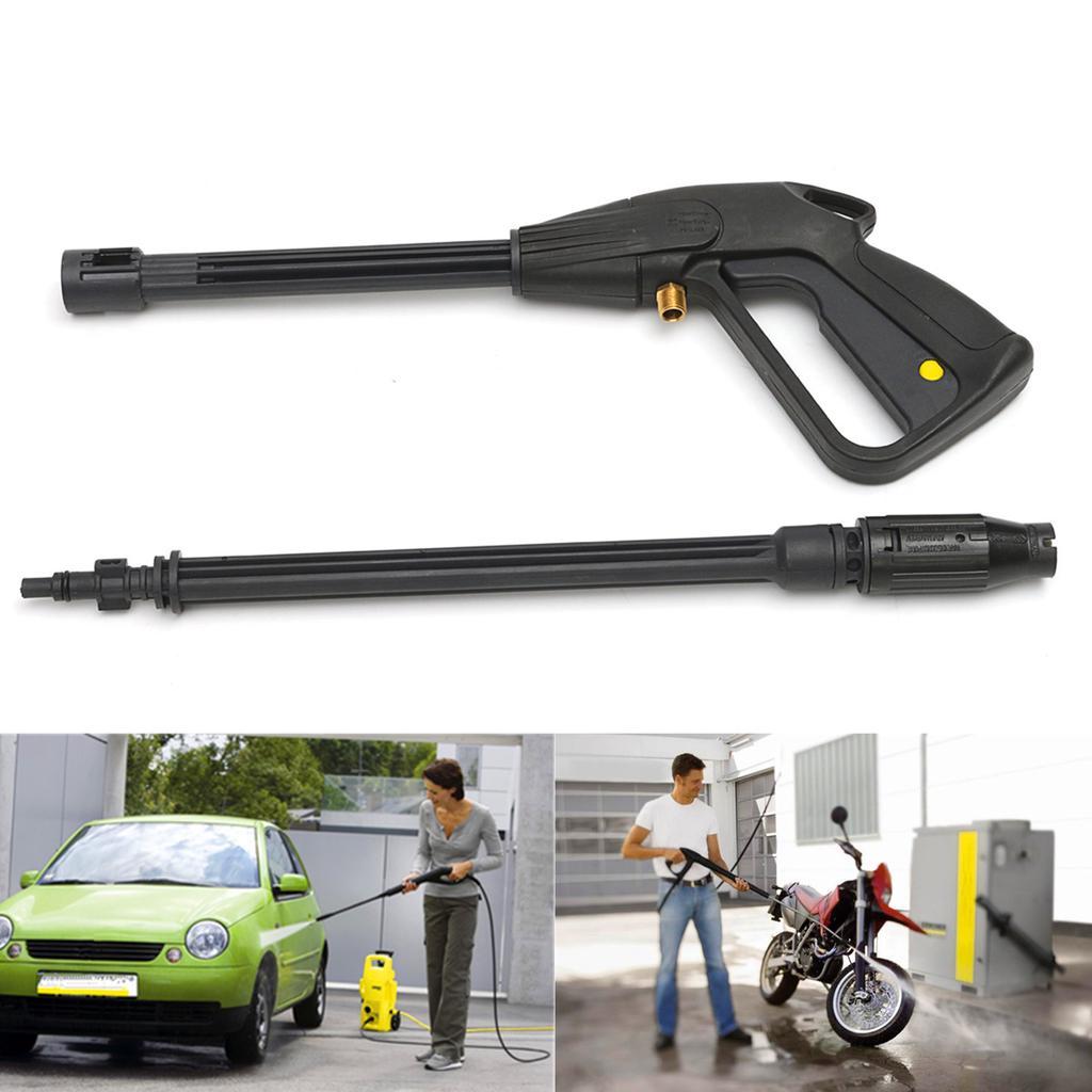 """35/"""" High Pressure Washer Spray Gun Garden Hose Kit For Car Jet Lance Wash Nozz"""