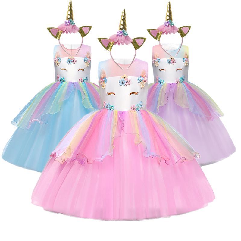 Einhorn Prinzessin Kleid Baby Regenbogen Party Ballkleider Madchen Rollenspiel Pony Kinder Kinder Kleidung Gunstig Im Onlineshop Von Joom Kaufen