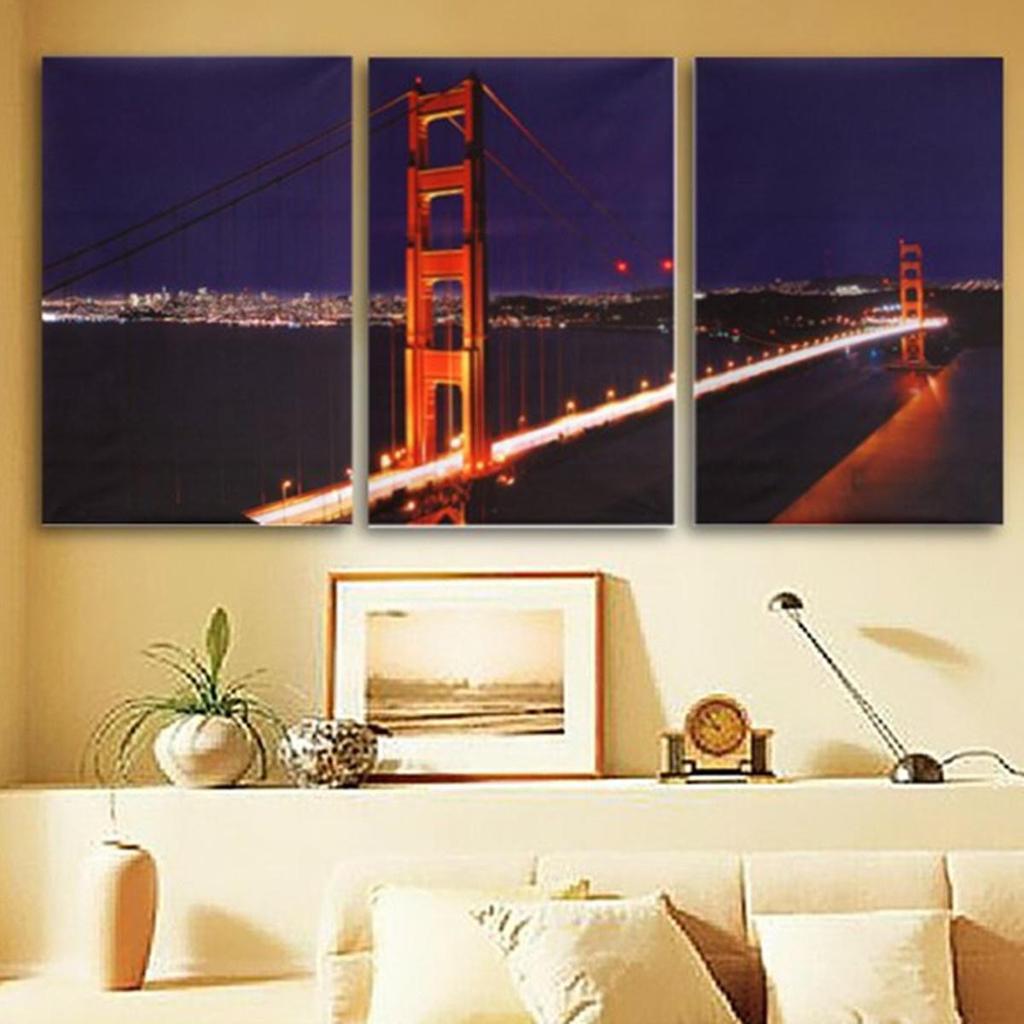 Golden Gate Bridge Leinwand. Beautiful Bild Auf Leinwand Golden Gate ...