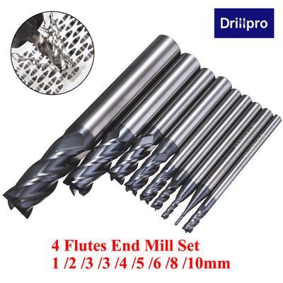 """5PCS 1//8/"""" Carbide CNC Straight Shank 4 Flute Spiral Bit End Mill Cutter CEL 17mm"""