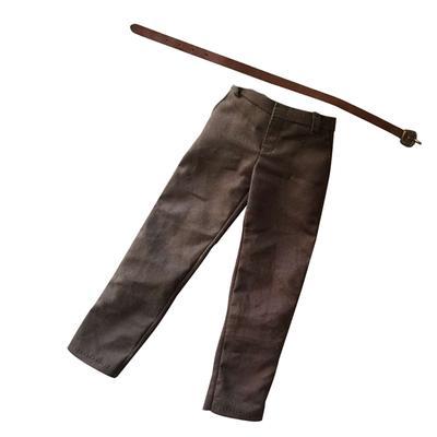 6 mit Gürtel für 12 Zoll Phicen Khaki Hose für Männer im Maßstab 1