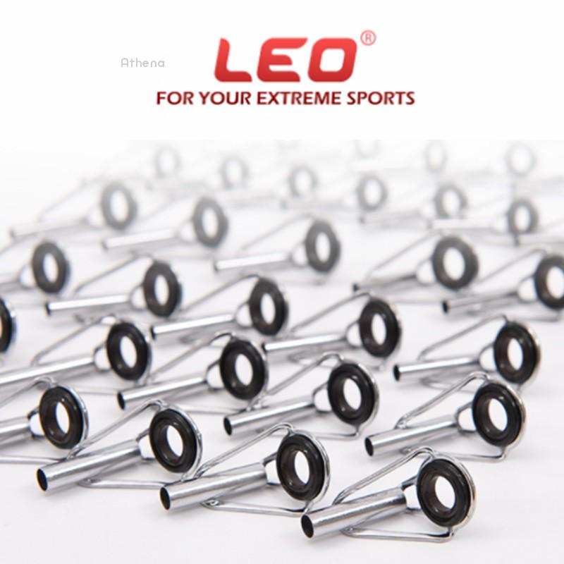10Pcs Ceramic Eye Rings Fishing Rod Guides Tips Stainless Steel Frame 10#