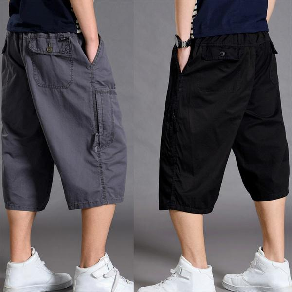 NEW Boys Elasticated Knee Length Shorts 3//4 Cargo Combat Multi Pocket Camo Mesh