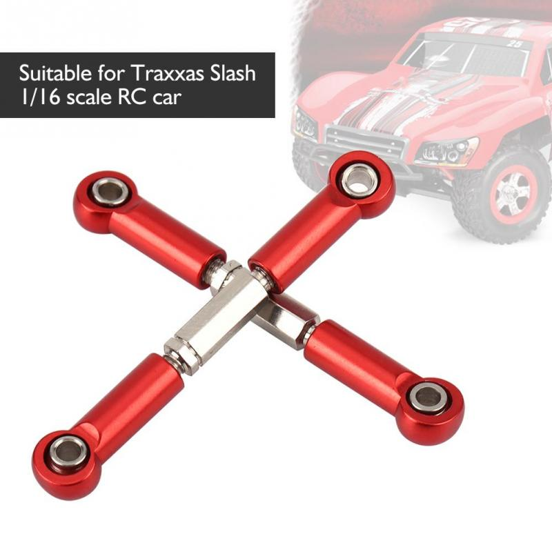 2pcs Metal Rear Upper Steering Rod for 1//10 Scale Remote Control Car Parts Blue RC Car Rear Steering Rods