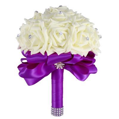 Nunta Buchet Stras Trandafiri Bridesmaid Buchet Flori Artificiale