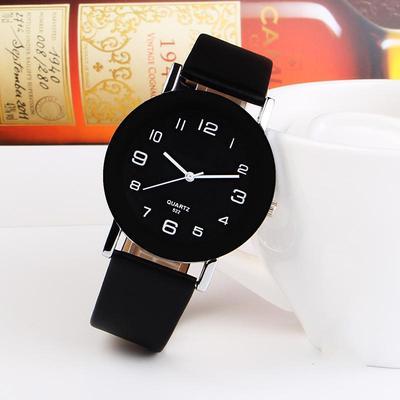 Fashion Simple Leather Watch Women Casual Analog Quartz Wrist Watches