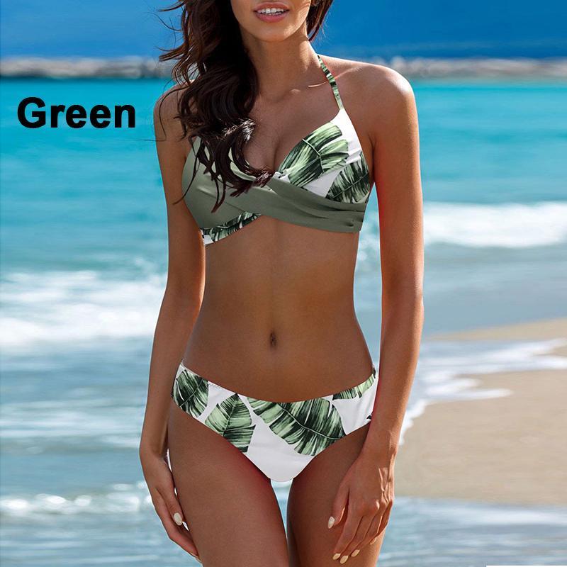 Plus Size Women Padded Bra Bathing Swimsuit Swimwear Two Pieces Swim dress Beach