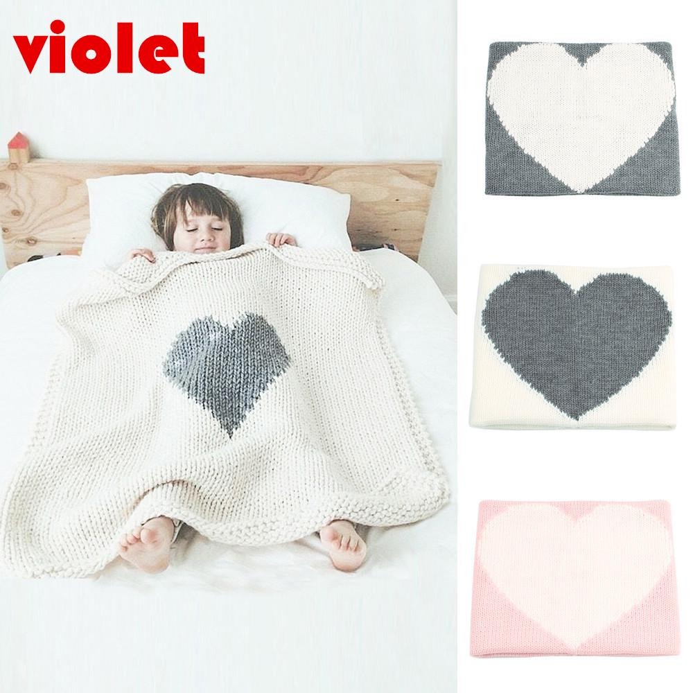 Baby Kids Rabbit Knitted Flannel Blanket Bedding Quilt Play Blanket Towel