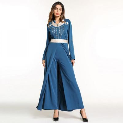 93b7681a71d7 Muslim Style Women Fashion Sexy Long Sleeve Romper Playsuit Ladies Casual Loose  Jumpsuit