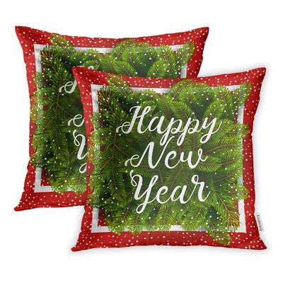 Christmas Slogans Red and White Cushion Cover