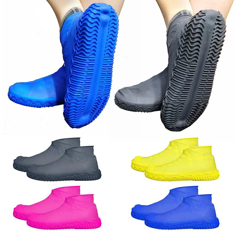 AG/_ Universal Silicone Waterproof Shoe Cover Outdoor Hiking Skid-proof Shoe Cove