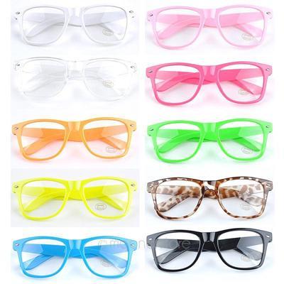 e6e026d855 Cheap Unisex Men Women Vintage Clear Lens Frame Wayfarer Nerd Geek Glasses  Eyewear