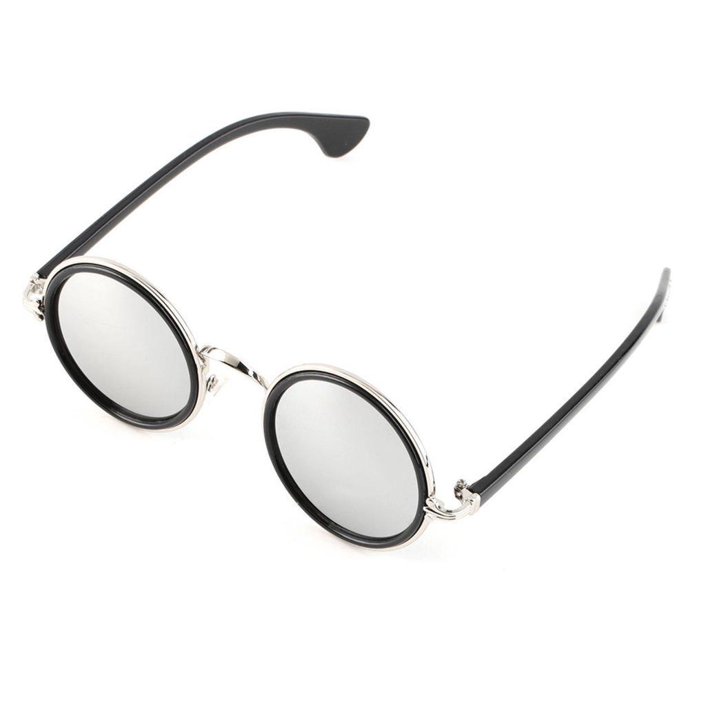 8f6909d858 Mujeres calientes hombres Unisex espejo redondo Retro Vintage lentes ...
