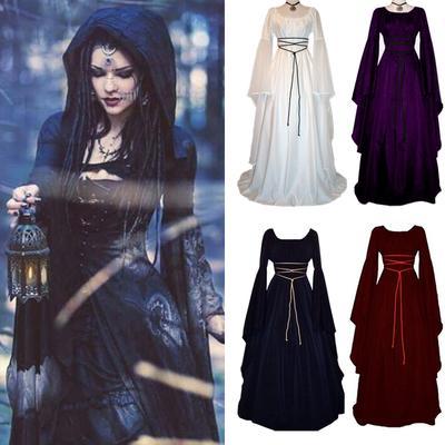 Festival Women/'s Medieval Dress Victorian Renaissance Gothic Gown Costumes S-XL
