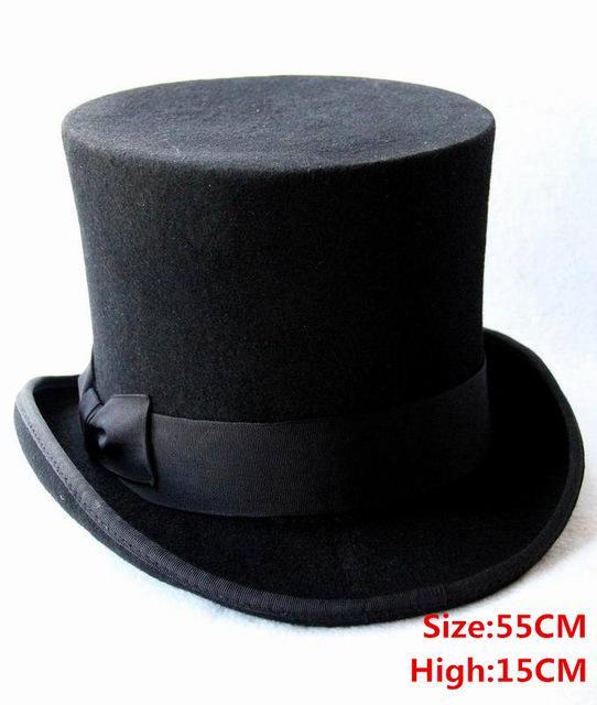 15cm(5.89inch) 3 Color Steampunk sombrero sombreros locos lana ... 40f3e154785
