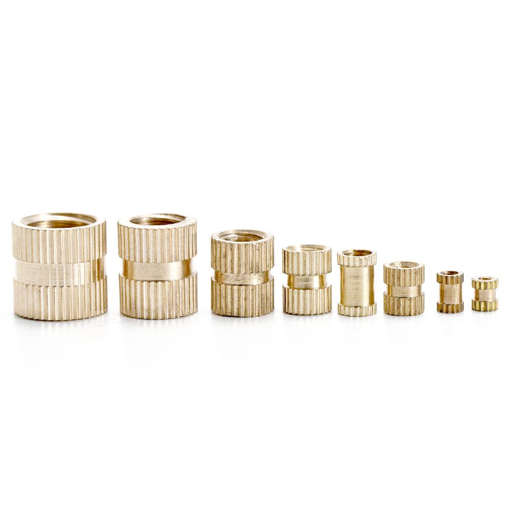Knurled Nut 210pcs Brass Cylinder Knurled Threaded Round Insert Embedded Nuts 30 x M24 Compatible with Corresponding Screws