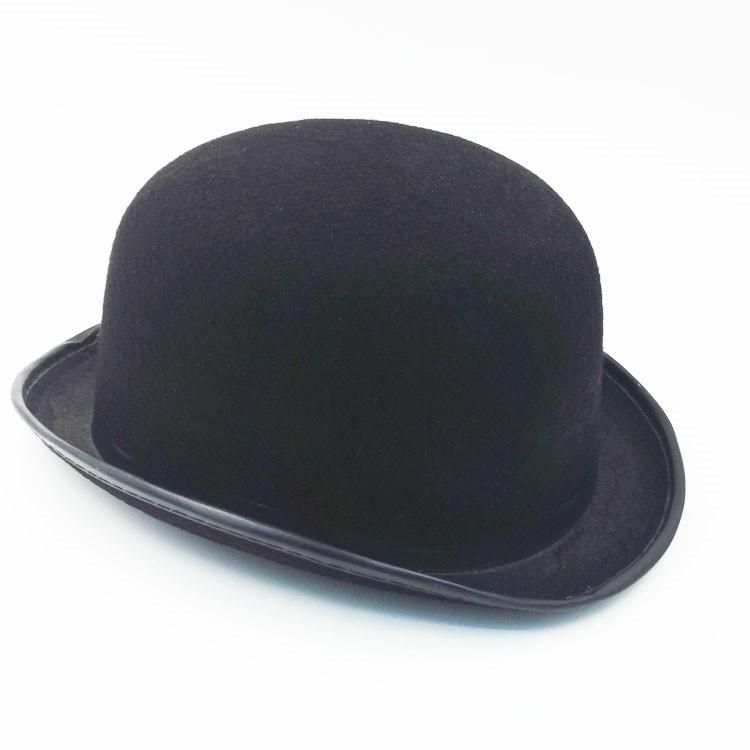 8eb4fd82ffb45 Homens de chapéu de moda Jazz chapéu Outono Inverno lã Cap geral senti  chapéu Cowboy britânico chapéu preto preto