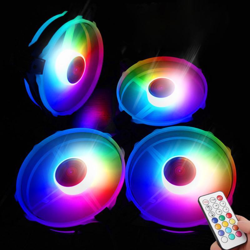 12V 33CFM 6pin RGB красочный свет 12 см DC компьютер случае корпус вентилятор охлаждения – купить по низким ценам в интернет-магазине Joom