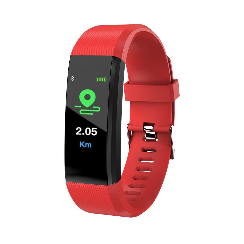 Smart wristband 115plus fitness bracelet tracker blood pressure heart rate  monitor wristband