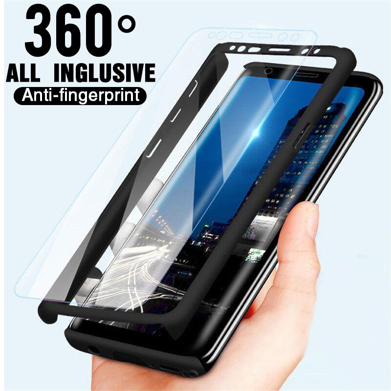 360 Полный Обложка Телефон Чехол с закаленное стекло для Huawei Xiaomi Samsung IPhon 6 7 плюс XR XS Макс