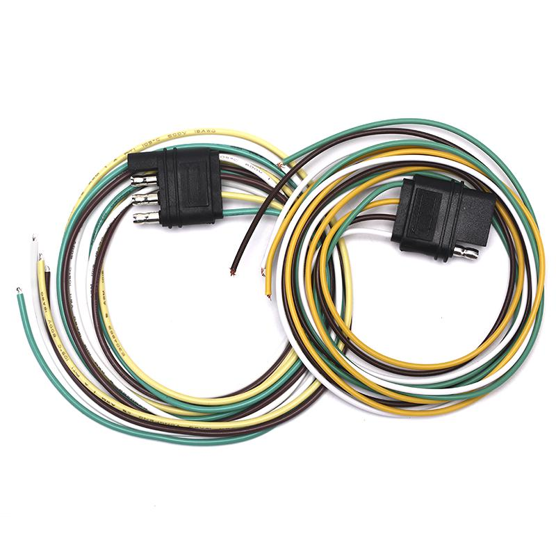 White DIY USB 2.0 Type Female 2 Wires Open Two Copper Core Cable 10 Pieces