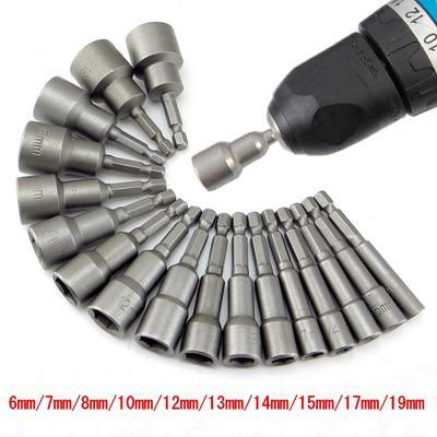 Nut Driver Drill Bit Hexagonale Couleur Magnétique manche chrome vanadium steel rod