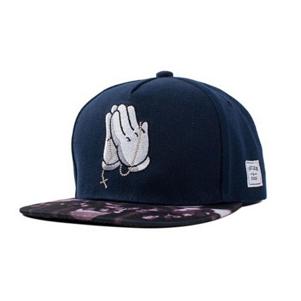 faa5dcd8eef The Hand of Jesus Prayer Embroidery Adjustable Hip Hop Baseball ...