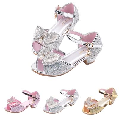 Kids Baby Girls Sandals Bowknot Pearl Roman Sandals Princess Shoes Sandals Bow Pearl Rhinestone Sandals Baby Girls Pink 6.5