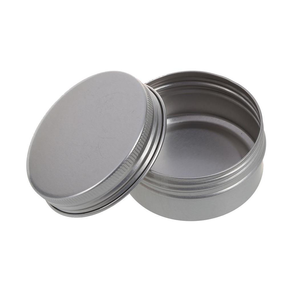 10pcs Aluminium Nail Art Cosmetic Travel Cream Pot Jar Tin Balms Frosted 10gr 2 Of 6