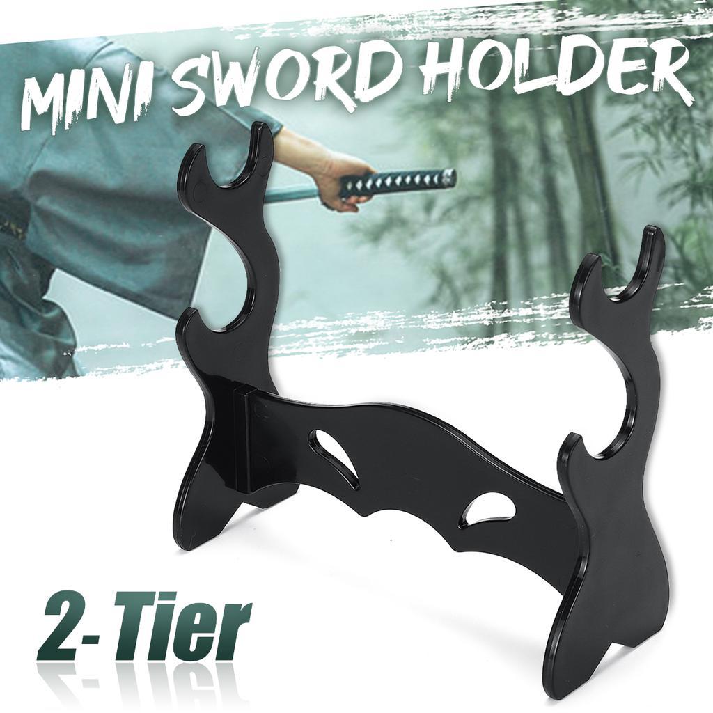 3 Tier Layer Samurai Sword Katana Stand Bracket Display Rack Base Holder