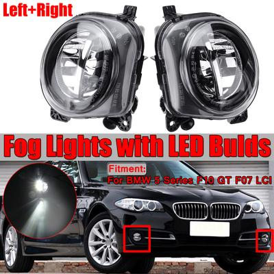 Right Left Front Fog lamp Light Bulb Clear Lens for BMW E60 E61 5 Series 2007-10