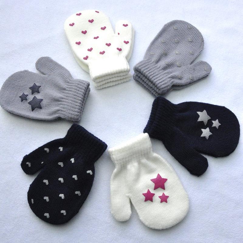 Baby Boys Winter Glove Warm Toddler Infant Girls Mittens Fleece Lined Gloves 1-7 Years