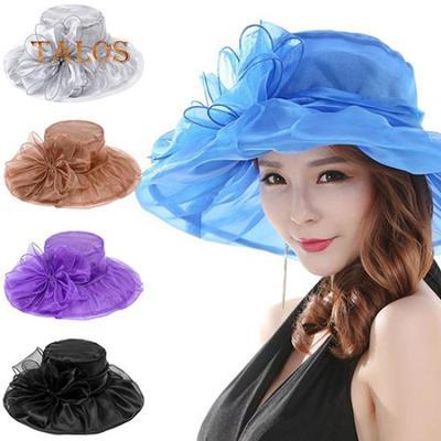 Women s Fashion Summer Church Kentucky Derby Cap British Tea Party Wedding  Hat Girls Hats cb272ff8efa