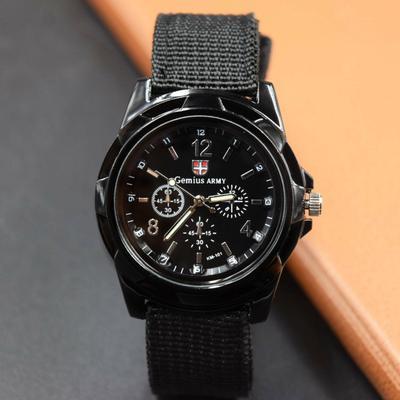 Nylon Braided Men's Sports Watch Luminous Swiss Quartz Watch Fashion Men's Watch