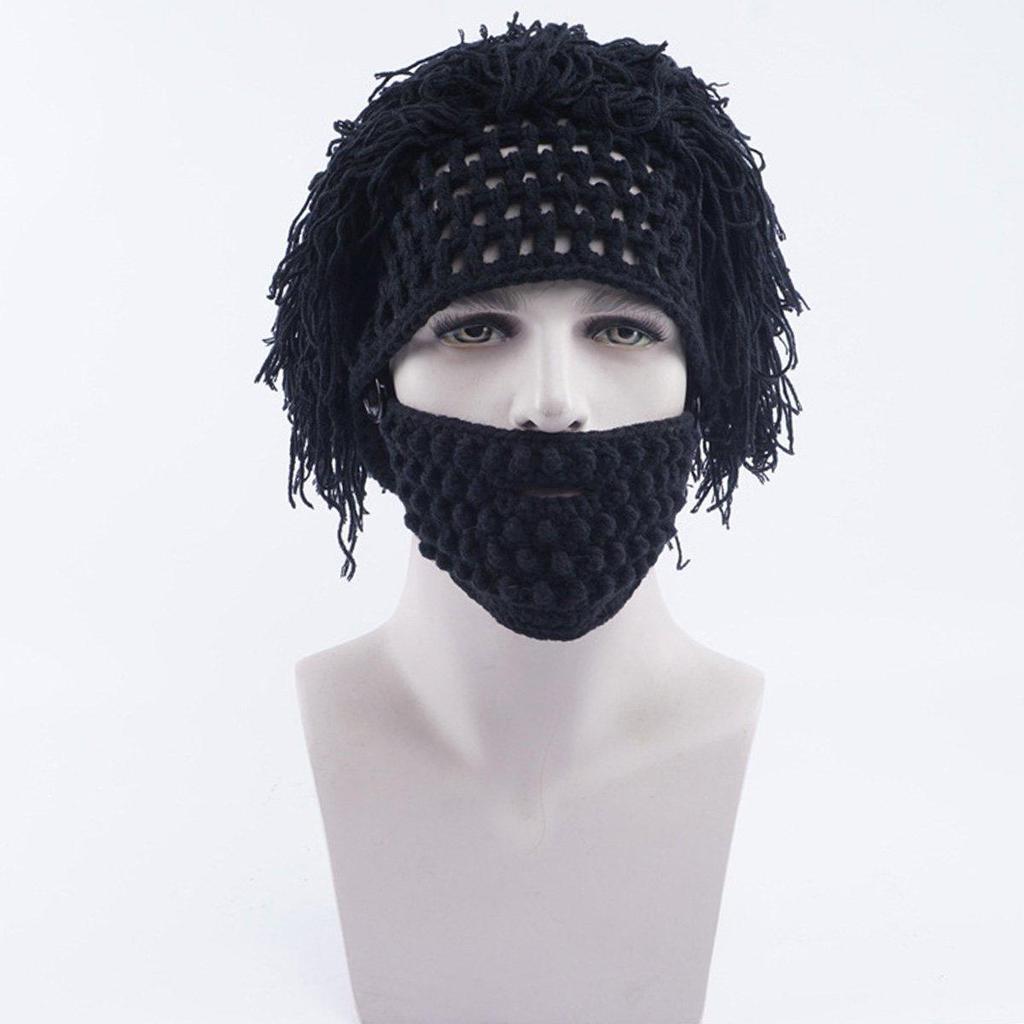 Hombres ganchillo punto peluca Rasta gorro sombrero máscara ...