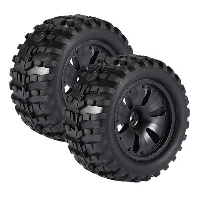 2pcs 1/10 RC Car Tyre Tire w/ Wheel Rim for HPI Savage LRP