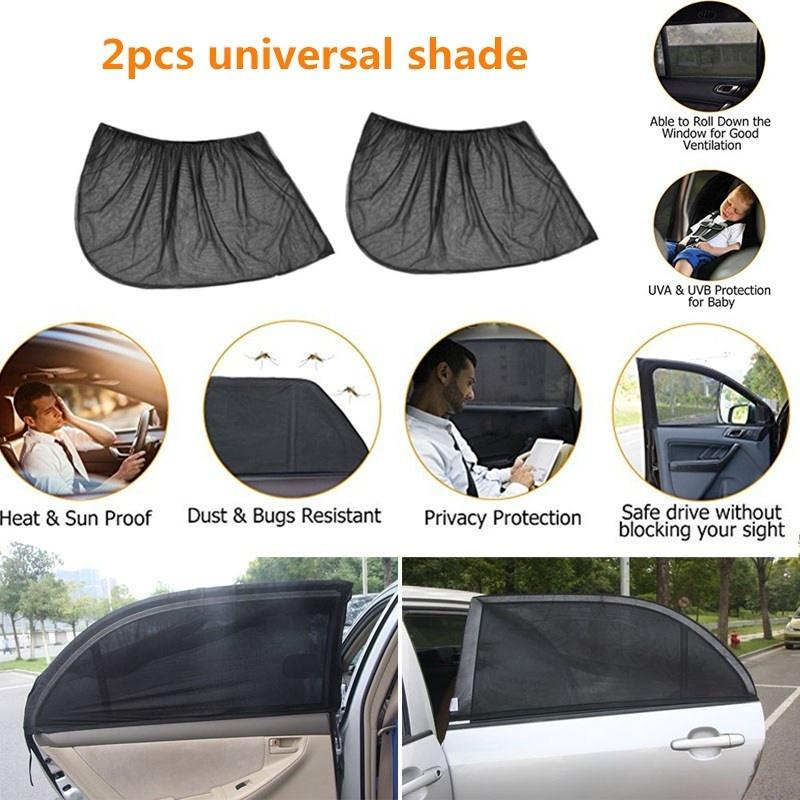 2x Sun Visor Film Black Tint 20 x 150cm Windscreen Car Window UV Heat Blocker