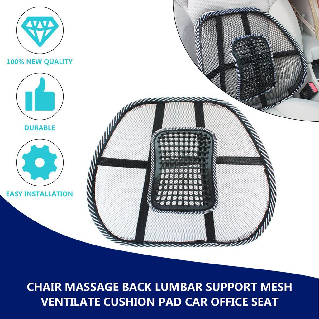Beauty Women Chair Massage Back Lumbar Support Mesh Ventilate Cushion Pad Car Office Seat Buy At A Low Prices On Joom E Commerce Platform