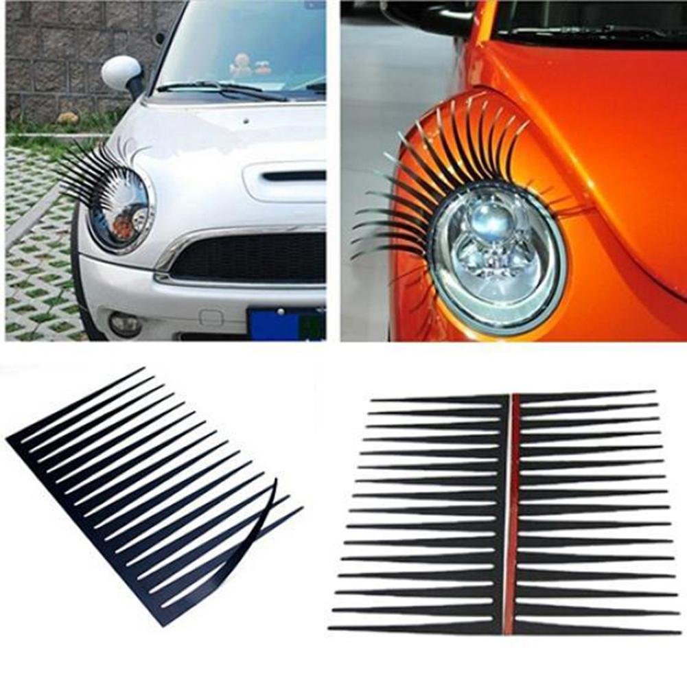 2 Pieces Styling Mouldings Decoration Vehicle All Cars Light Eyelash