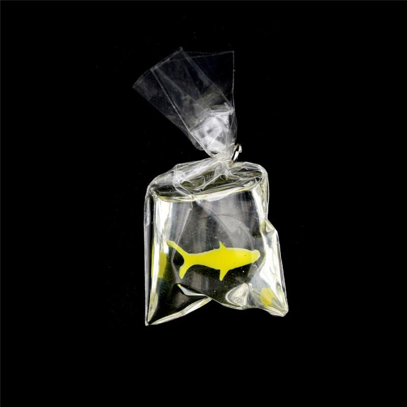 1:12 Dollhouse Miniature Transparent Bag Goldfish Doll Pet Toy De`US