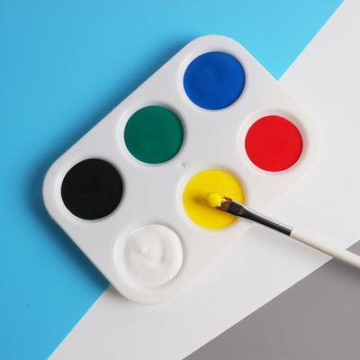 2PC//Set Plastic Watercolor Oil Palette For Craft DIY Art Painting Palettes White
