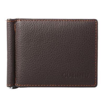 cb08b89573c3 Мужчины бумажник искусственной кожи тонкий бумажник Браун с 6 отделений для  кредитных карт + Примечание клип