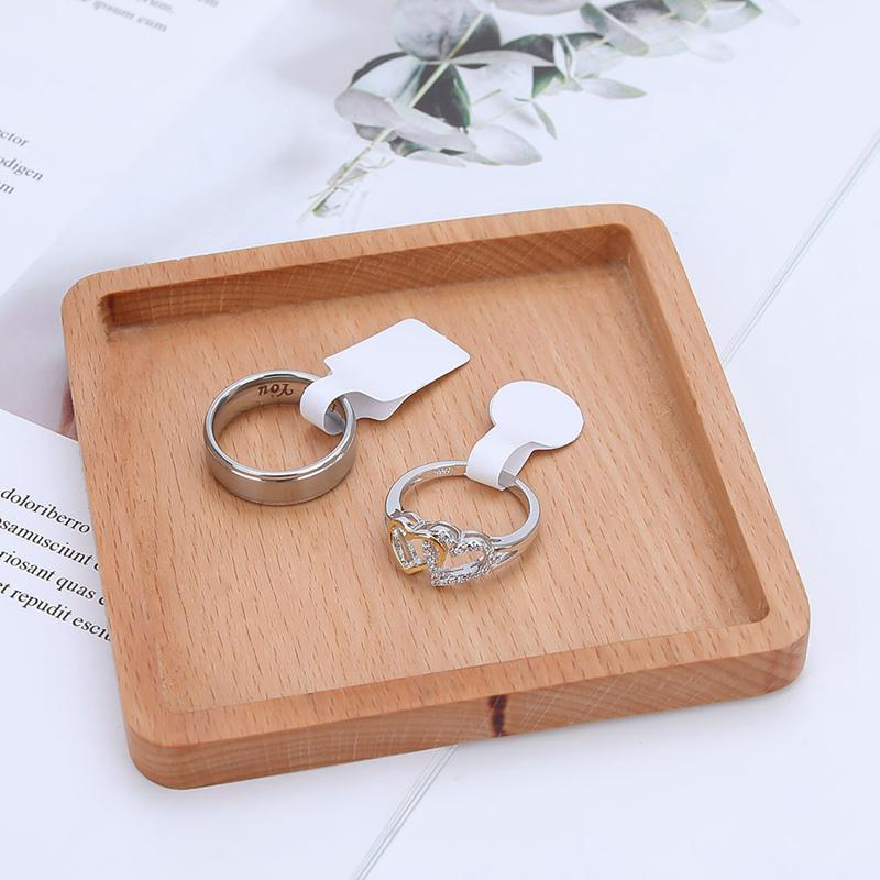 100pcs Blank Jewelry Necklace Ring Size Price Label Ring Tags Stickers Useful