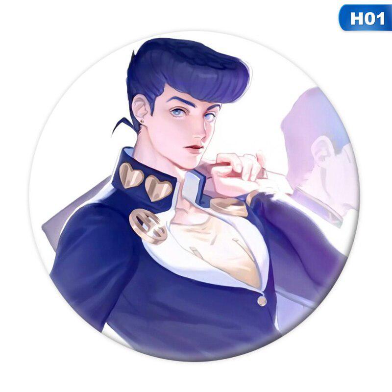 12pcs Anime JOJO/'s Bizarre Adventure Golden Wind Cosplay Pin Button Brooch Badge