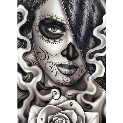Skull DIY 5D Round Diamond Painting Embroidery Cross Stitch Kits Home Mosaic Art