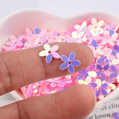 350PCS Sewing Loose Sequins Resin Flower Craft DIY Paillette Decoration 10mm