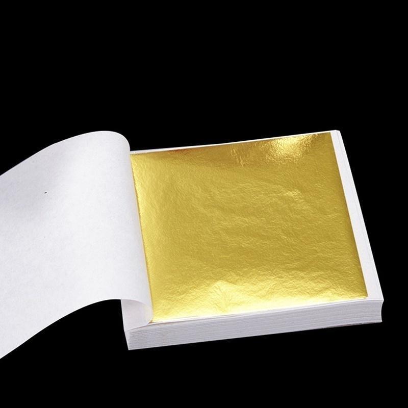 100 Leaf Foil Paper Gilding Art Craft 14cm Three Color Choice DT
