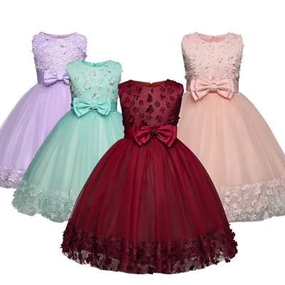 4 14 Years Children Girl Lace Long Princess Dress Kids Girls Flower Wedding Party Bridesmaid Dresses Buy At A Low Prices On Joom E Commerce Platform